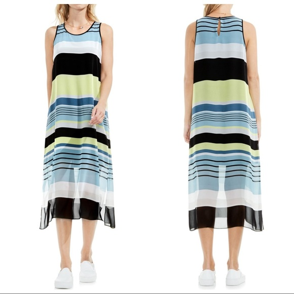 Vince Camuto Dresses & Skirts - Vince Camuto Stripe Harmony A-Line Dress Small
